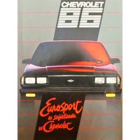 Catálogo publicitario 100% original de agencia del Chevrolet Eurosport modelo 1986, un auto deportivo muy popular en la década de los 80's. El catálogo consta de 12 páginas y se encuentran en un estado simplemente inmejorable, a pesar de sus más de 30 años de antigüedad. Se trataba del auto de lujo insignia de la Chevrolet, pero también cumplía las funciones de un excelente deportivo.