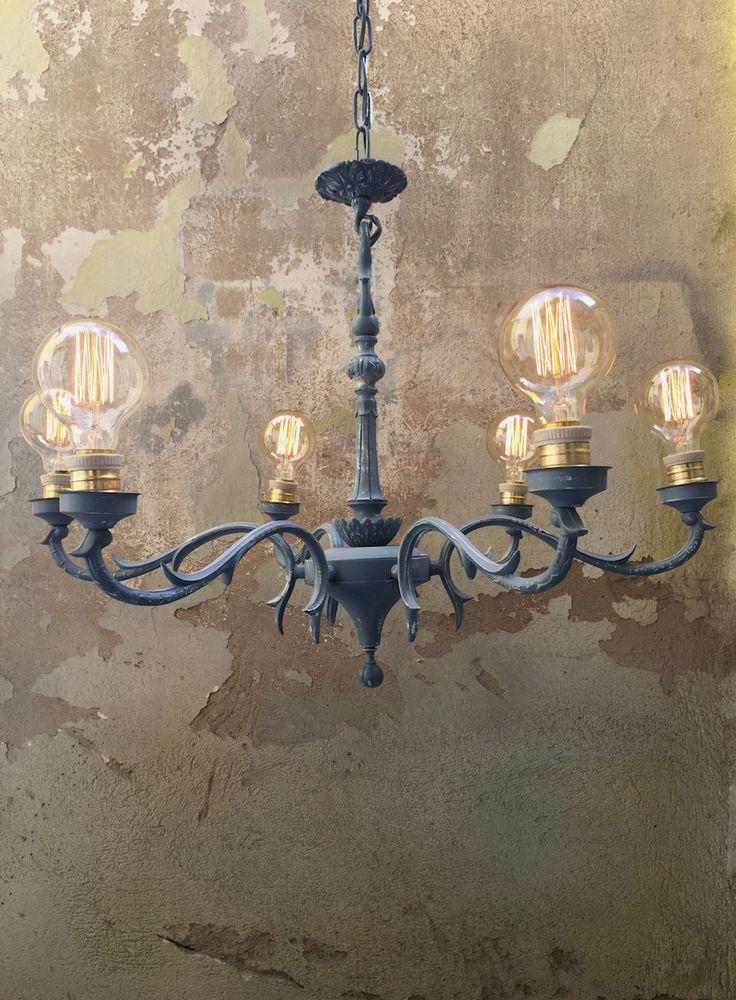 M s de 25 ideas incre bles sobre l mparas restauradas en - Pintar lamparas de techo ...