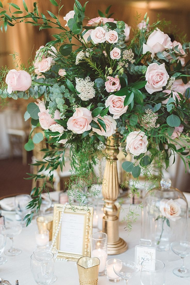 Whimsical Baroque Wedding At The Bard Mansion Wedding Centerpiece