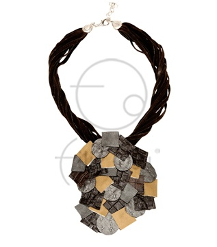 Mozaik deri kolye / Mosaic leather necklace