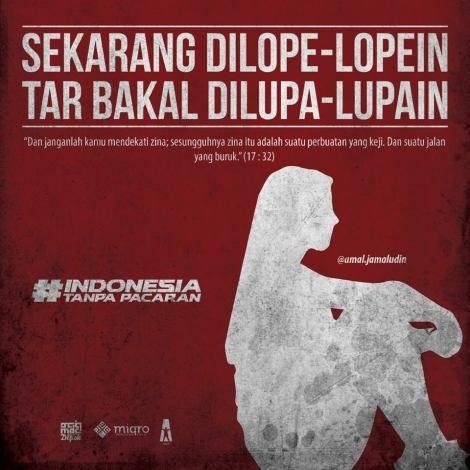 4 Poster #IndonesiaTanpaPacaran Karya Miqro Design 1