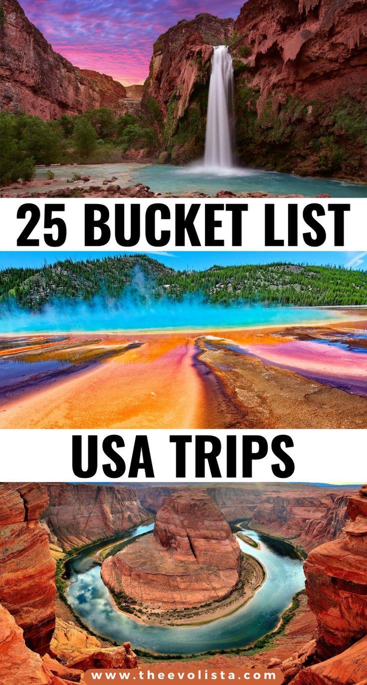 25 Bucket List Usa Trip Ideas You Ll Love The Evolista Travel Usa Road Trip Usa Vacation Trips