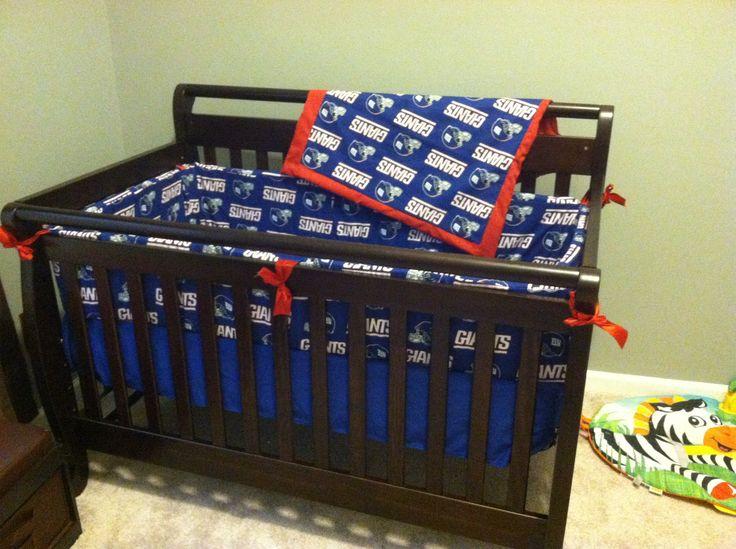 5 Pc New York Giants Crib Bedding