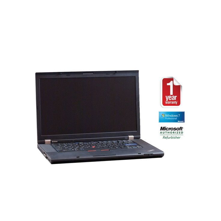 "Lenovo T510 refurbished laptop PC I5-2.4/4096/500/Dvdrw/15.5""/W7HP64/Webcam, Multi Color"