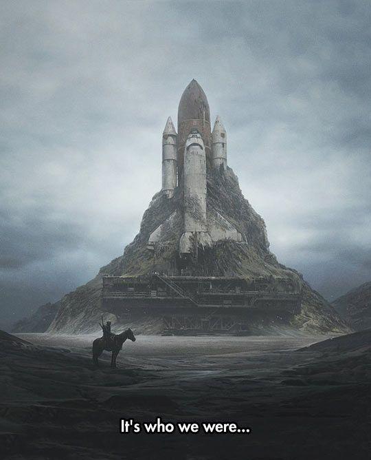 A Strange Futuristic Scenery