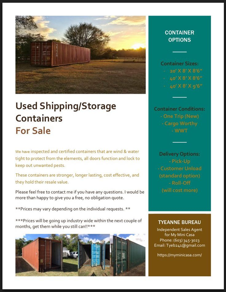 Used Shipping/Storage Containers for sale!!  Can be used for just about anything you desire.  Please do not hesitate to reach out!  Keywords: weather proof, weather-proof, pod, pods,shelter, lockable, lockbox, secure, security, metal, Xtra Storage, Ocean Containers, Steel Boxes , Joboxes, PODS , One Tripper, 1-Tripper, Storage Trailers, Storage Sheds, ISO Containers, Connexes , Seacans, Sea Cans , Job Boxes, Instant Space Container, Xtra Storage, Airtight, booth, crate, shipping, Connex box.