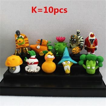 2017 new 10pcs/set Plants vs Zombies Toy 5-10cm PVC Collection Plants Zombies Figure Toys Gift boys girls birthday party