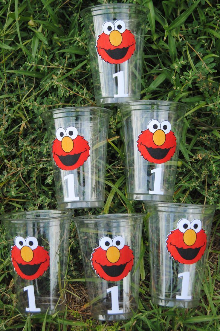 24 Elmo Party Cups, Elmo, Elmo Birthday Party, Sesame Street 16 Oz Cups. $19.50, via Etsy.