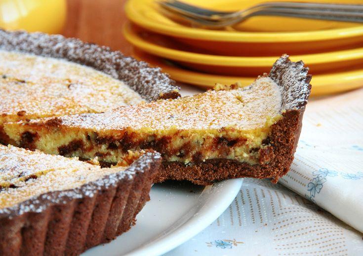 Unavená vařečka: Linecký koláč s tvarohem a čokoládou