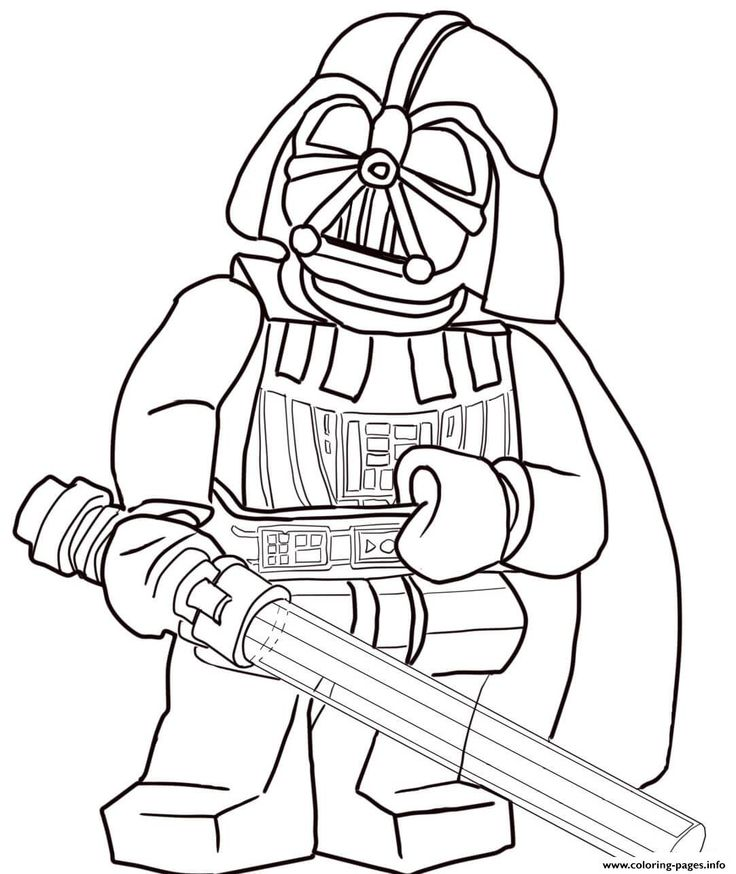 print lego star wars darth vader coloring pages