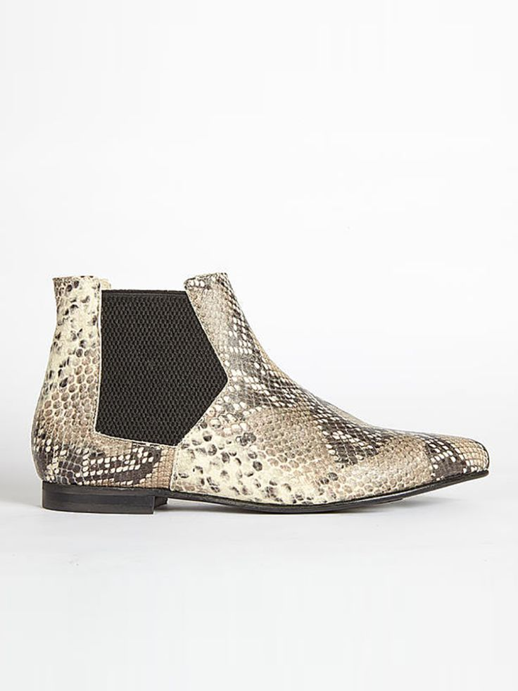 Ivylee Polly Boot: Stand out from the crowd with these python print ankle boots Short height on the ankle.