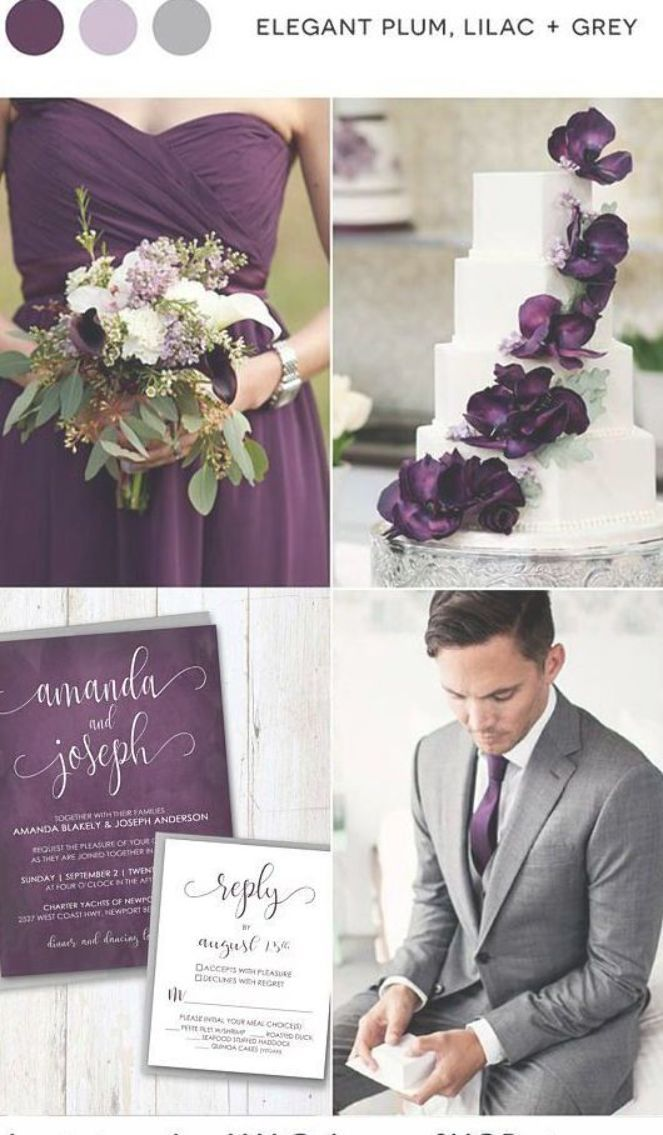 Wedding Invitations Any Color Purple Green Navy Blue Plum