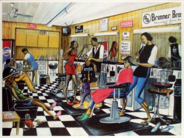 hair salon black art | Black Beauty Salon Art & African American Hair Salon Posters