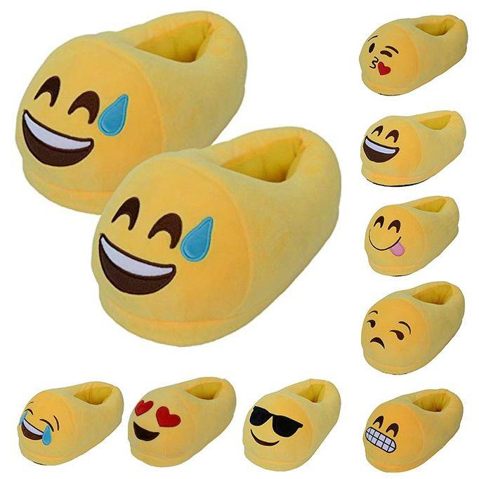 Divertidas zapatillas emoticonos con muchas caras diferentes. Idea regalo original para hombres, mujeres y niños. Talla unica