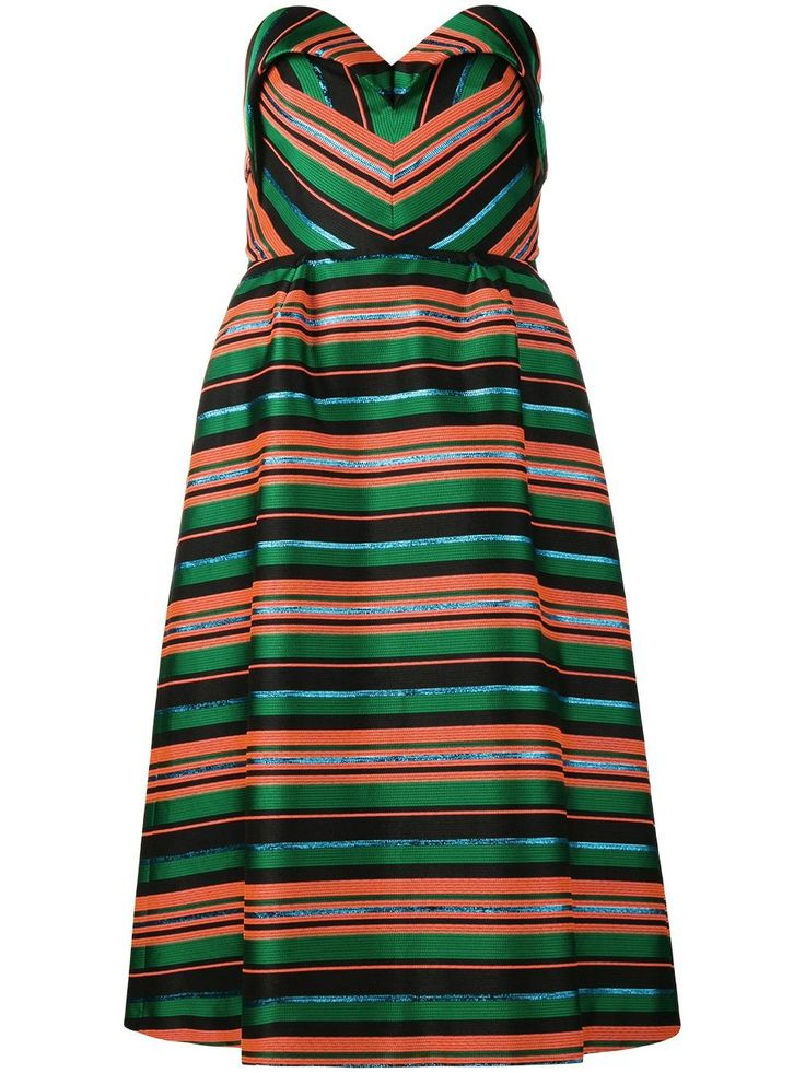 Delpozo полосатое платье