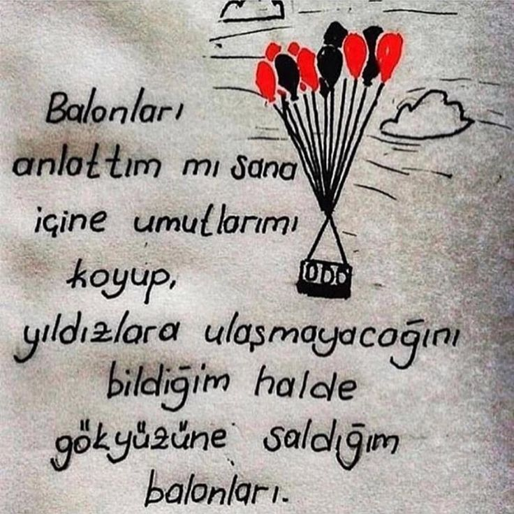 Balonlarımı anlattım mı sana, içine umutlarımı koyup, yıldızlara uluşmayacagını bildiğim halde gökyüzüne saldıgım balonları.