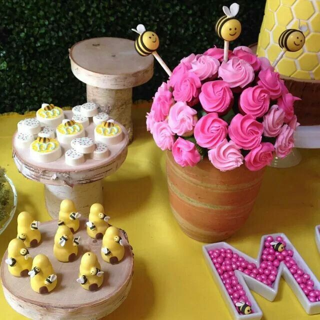 Bumble Bee Cupcakes Iced Cookies Cake Pops