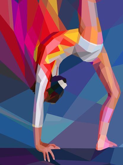 Gymnastics painting! I want this in my room !!