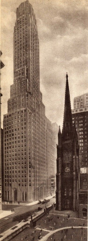 the Manhattan Life Insurance Building : Broadway View from June 1931