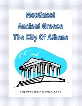 Athens is one of the great cities of the world. It is the birth place of democracy and the heart of the Ancient Greek civilization.       As your students learn about Ancient Athens they uncover facts  while learning to read for information and using research skills.  Supports CCSS.ELA-Literacy.RI.4.1-8.1 Answer Key included
