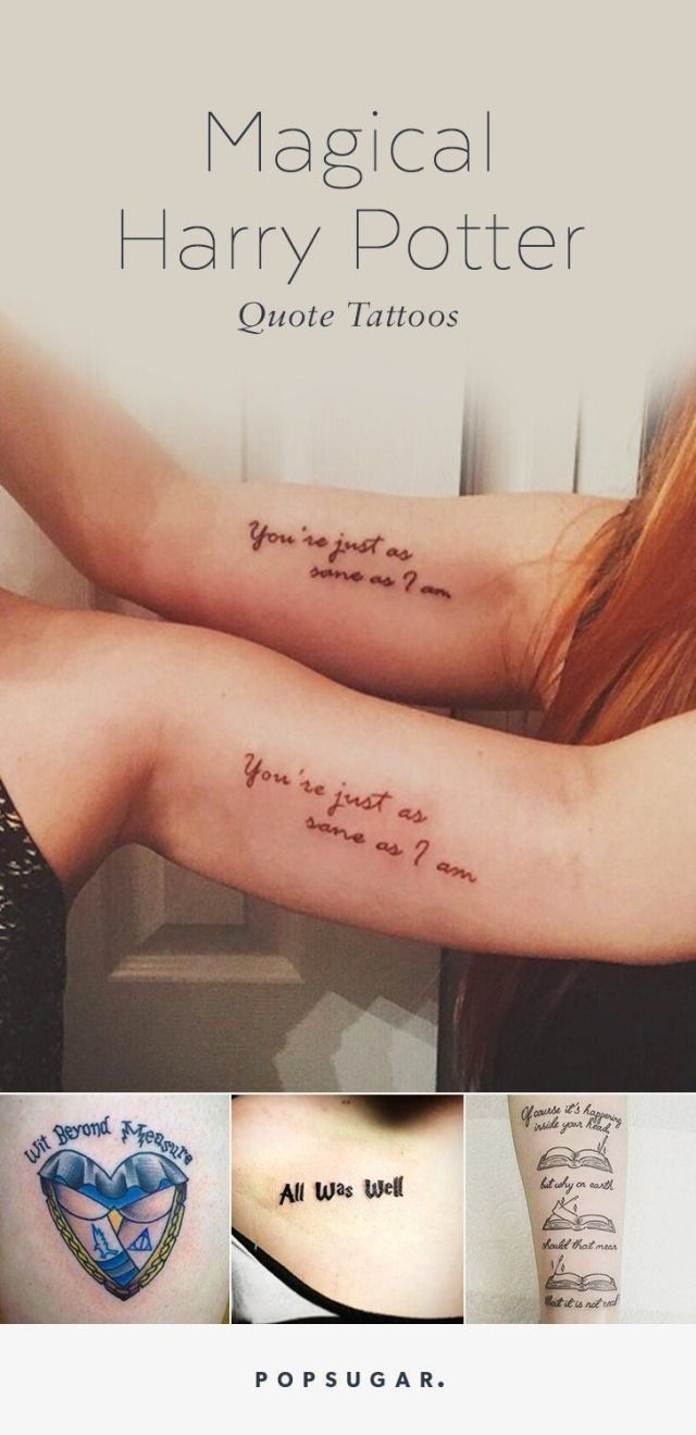 Tattoo ideas for those that can't stop reading the Harry Potter book series.