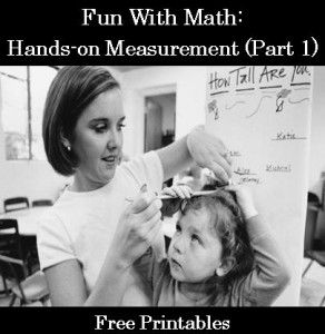 Fun With Math- Hands-On Measurement FREE PRINTABLES