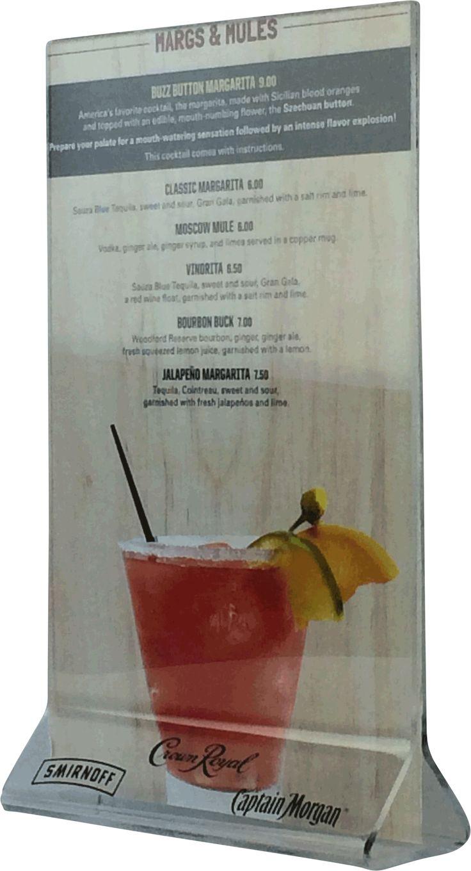 67 best menu designs table top marketing images on pinterest for Table 52 drink menu