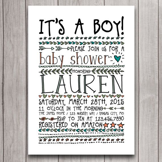 36 best baby shower images on pinterest | baby shower invitations, Baby shower invitations