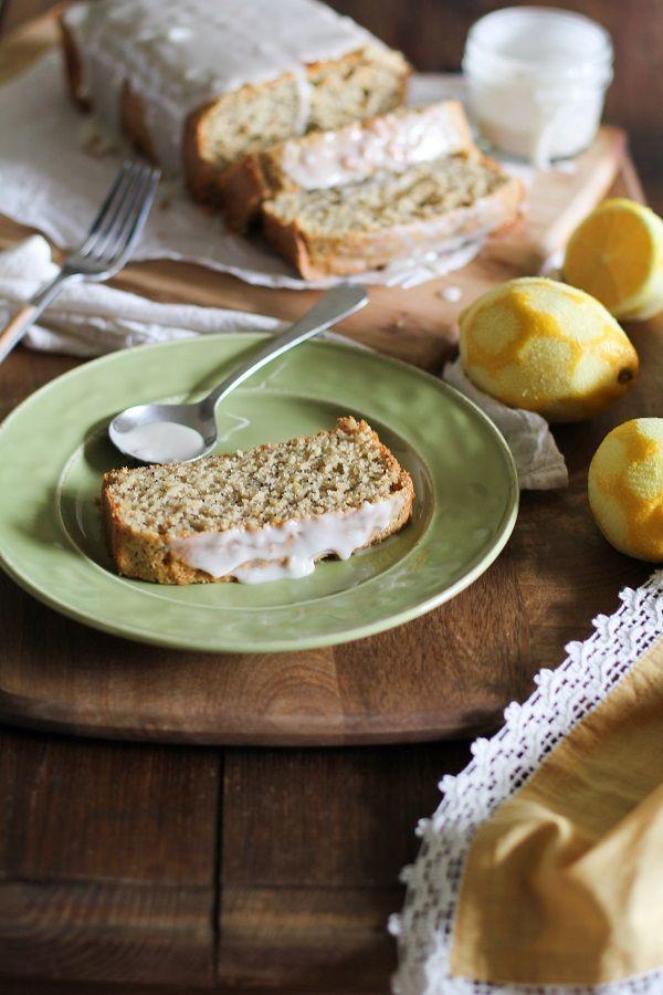 Gluten Free Lemon Poppy Seed Bread with Honey-Lemon Glaze - TheRoastedRoot