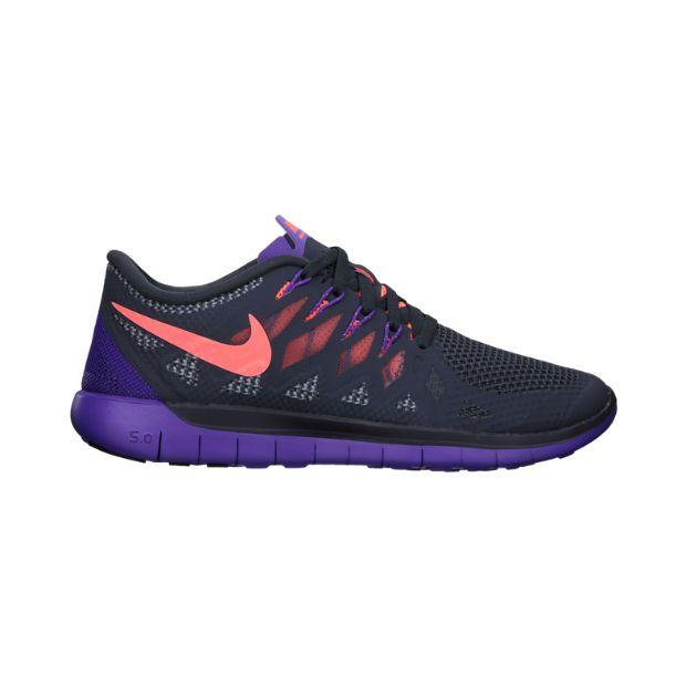 Nike Free 5.0 Running Shoe | dark magnet grey/hyper grape/bright mango