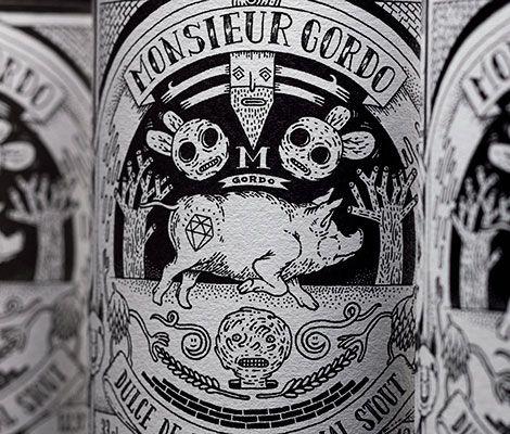 Monsieur Gordo Beer Labels