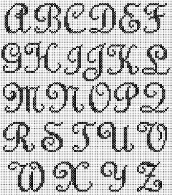 alphabet cross stitch pattern maker - Google Search