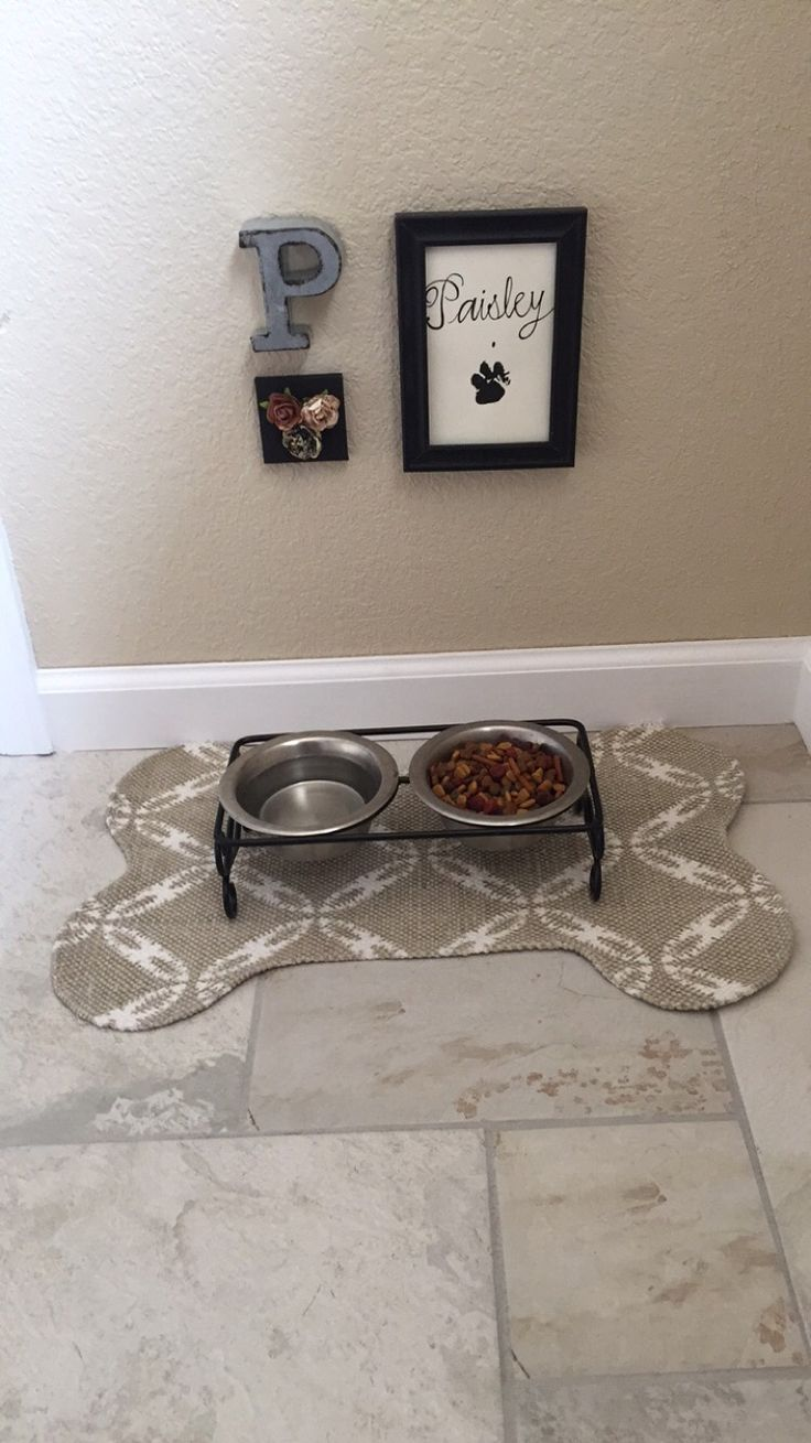 Cute pet food station!                                                                                                                                                                                 More