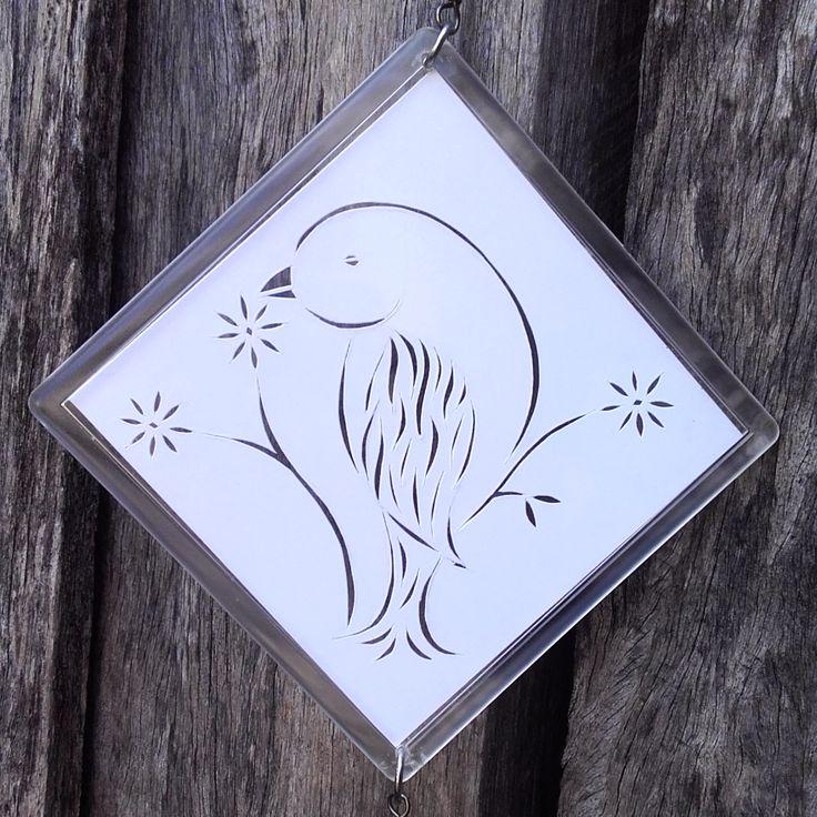Paper Cut Bird Mobile With Fan