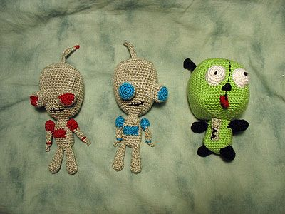 Crochet Invader Zim Patterns : INVADER ZIM PIG CROCHET PATTERN CROCHET