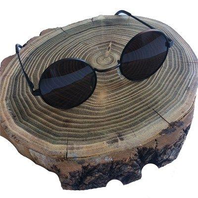 John Lennon Yuvarlak Güneş Gözlüğü Küçük Model Siyah