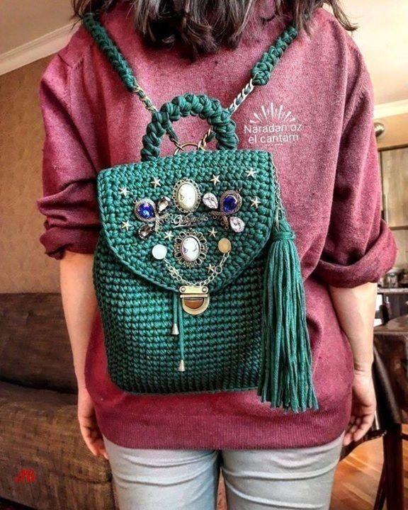 dabf0a436f80 Вяжем очаровательные и удобные рюкзаки из трикотажной пряжи крючком — I Love  Hobby — Лучшие мастер