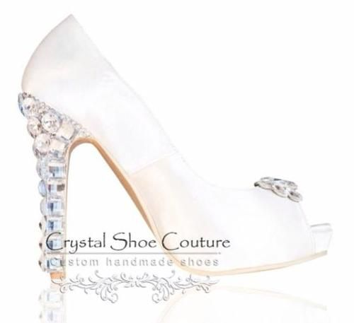 Aubrey Various heel heights available Open or closed toe  www.crystalshoecouture.com