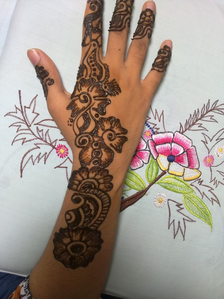 Simple arabic mehndi designs, Simple and Mehndi designs on ...