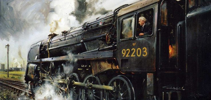 images of terence cuneo railway paintings | ... - Gloucestershire's mainline heritage railway - 9Fs past and present