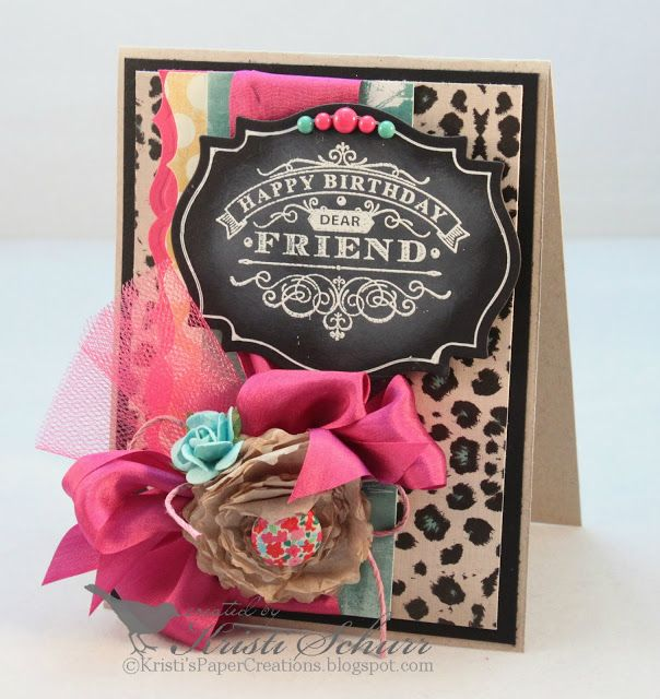 Happy Birthday Dear Friend- JustRite Papercraft  Birthday Wishes For You Clear Stamps
