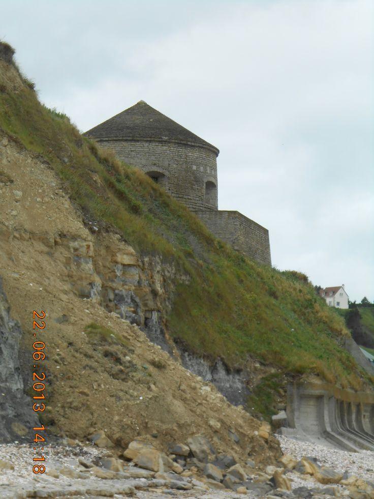 De rotsige kust van Normandie Frankrijk