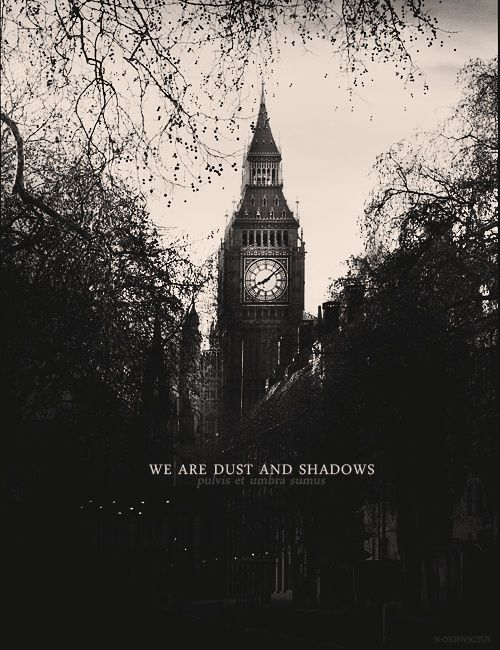 we are dust and shadows,