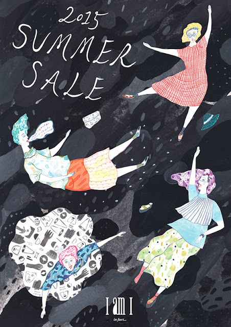 AIRI KURODA ファッションブランド IamI 2015サマーセール広告