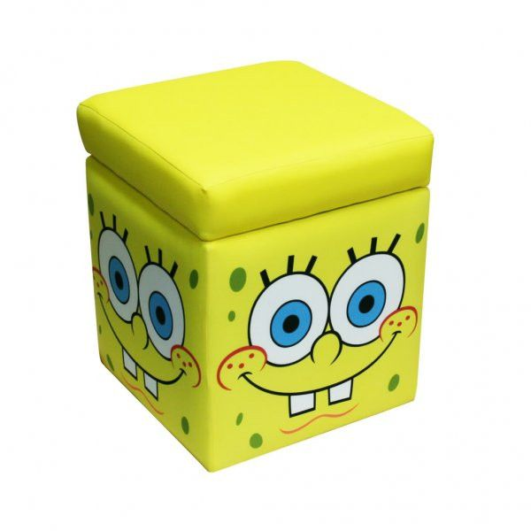 Nickelodeon Spongebob Storage Ottoman Multi 16 H X 14 W D At Harvey Haley For Only 59 89