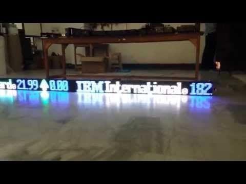 LED STOCK MARKET TICKER BSE NSE led ticker . technocratz.in , 8505870707