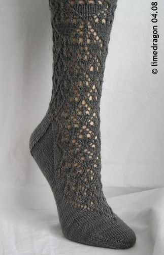 Ravelry: Florentine Lace Sock pattern by h. e. wintermute