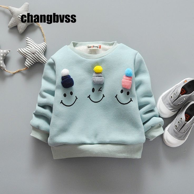 Awesome Cartoon Smiley Face Baby Boys Girls Kids Children's Thick Coat Hoodie Jacket Sweater Pullover Outwear Sport Long Sleeve T-shirt - $25.74 - Buy it Now!