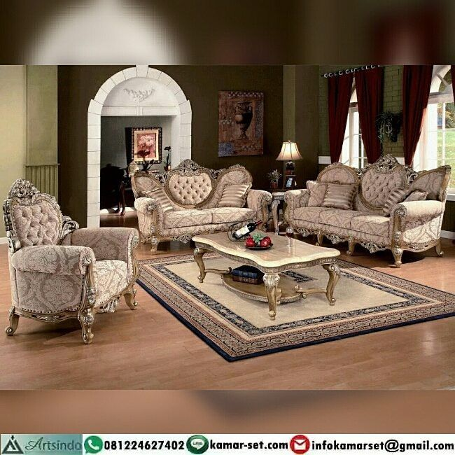 """Kursi Tamu Ukir Klasik Eropa Desain Mewah  Berminat Memiliki Furniture Mewah seperti ini? Serahkan…"""""""