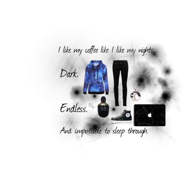 """Dark, Endless, and Impossible To Sleep Through."" by jaimew66 ❤ liked on Polyvore featuring Converse, Alexander McQueen, Yves Saint Laurent and Braided Birch"